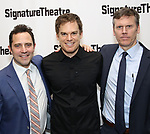 Oliver Butler, Michael C. Hall and Will Eno attends the Off-Broadway Opening Night of the Signature Theatre's 'Thom Pain' at the Signature Theatre on November 11, 2018 in New York City.