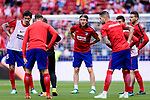 Filipe Luis of Atletico de Madrid (C) warming up during the La Liga match between Atletico Madrid and Eibar at Wanda Metropolitano Stadium on May 20, 2018 in Madrid, Spain. Photo by Diego Souto / Power Sport Images
