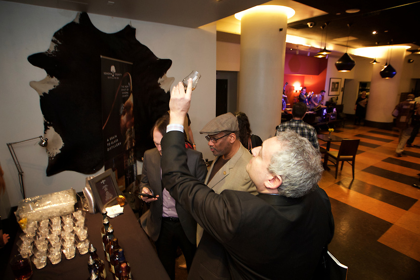 NEW YORK, NY - March 30, 2017: The second annual Harlem Whiskey Renaissance sprits tasting at MIST Harlem.<br /> <br /> Credit: Clay Williams for Harlem Whiskey Renaissance.<br /> <br /> &copy; Clay Williams / http://claywilliamsphoto.com