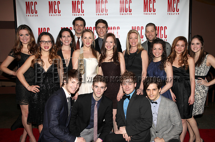 Molly Ranson & Marin Mazzie with the ensemble cast of Carrie.attending the 'MISCAST 2012' MCC Theatre's Annual Musical Spectacular at The Hammerstein Ballroom in New York City on 3/26/2012.