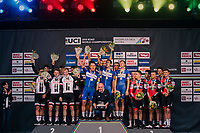 victory for Team QuickStep Floors; TTT World Champions!<br /> <br /> UCI MEN'S TEAM TIME TRIAL<br /> Ötztal to Innsbruck: 62.8 km<br /> <br /> UCI 2018 Road World Championships<br /> Innsbruck - Tirol / Austria