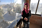 Salaam Amira at her house in the village of Na'alin, West Bank.