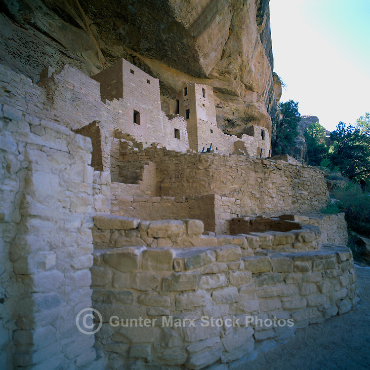 Mesa Verde National Park, Colorado, USA - Cliff Palace, an Ancestral Puebloan aka Anasazi Cliff Dwelling and Ruins