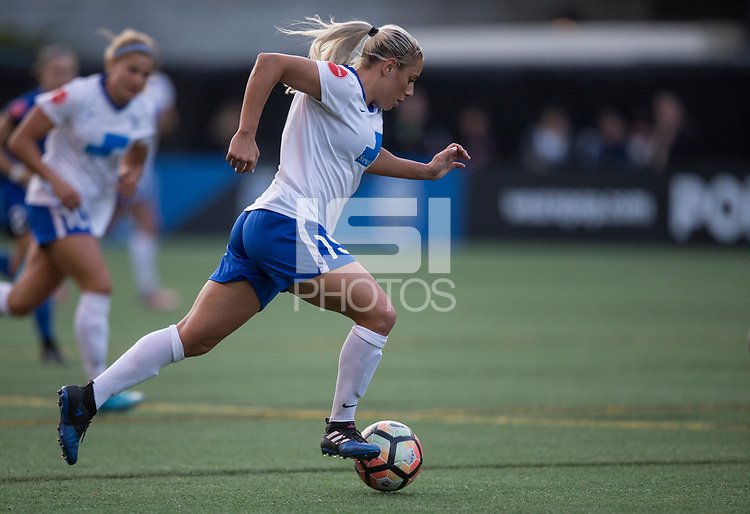 Seattle, WA - Saturday July 15, 2017: Adriana Leon during a regular season National Women's Soccer League (NWSL) match between the Seattle Reign FC and the Boston Breakers at Memorial Stadium.