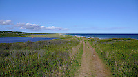 The Atlantic Ocean on the south shore of Lucy Vincent Beach on Martha's Vineyard, MA....................