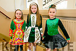 At the ST Patricks Day Feis at Scoil Realt NA Maidne, Listowel on Sunday were Molly Walsh, Caoimhe Ceary, Ava Walsh