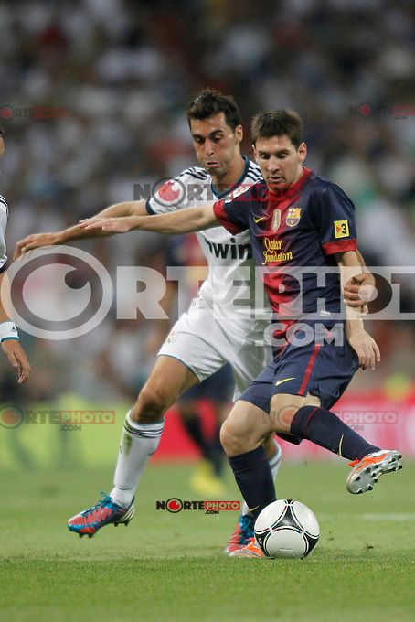 Real Madrid vs Barcelona  during Super Copa of Spain on Agost 29th 2012...Photo:  (ALTERPHOTOS/Ricky) Super Cup match. August 29, 2012. <br />