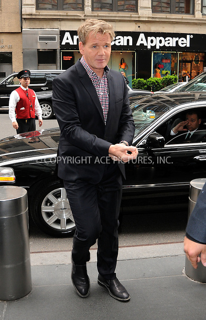 WWW.ACEPIXS.COM . . . . .  ....May 14 2012, New York City....Gordon Ramsey leaving a midtown hotel on May 14 2012 in New York City....Please byline: CURTIS MEANS - ACE PICTURES.... *** ***..Ace Pictures, Inc:  ..Philip Vaughan (212) 243-8787 or (646) 769 0430..e-mail: info@acepixs.com..web: http://www.acepixs.com