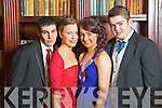 Pictured at the Castleisland Community College Debs at the Abbeygate Hotel, Tralee on Friday, from left: David O'Hanlon, Siobhan McCarthy, Chloe O'Connor and Ger Griffin.