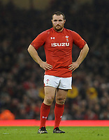 Wales' Ken Owens during the game <br /> <br /> Photographer Ian Cook/CameraSport<br /> <br /> Under Armour Series Autumn Internationals - Wales v Scotland - Saturday 3rd November 2018 - Principality Stadium - Cardiff<br /> <br /> World Copyright © 2018 CameraSport. All rights reserved. 43 Linden Ave. Countesthorpe. Leicester. England. LE8 5PG - Tel: +44 (0) 116 277 4147 - admin@camerasport.com - www.camerasport.com