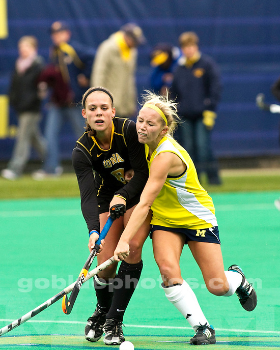 The University of Michigan women's field hockey team beat No. 12 Iowa 2-0 at Ocker Field in Ann Arbor, Mich., on October 1, 2011.