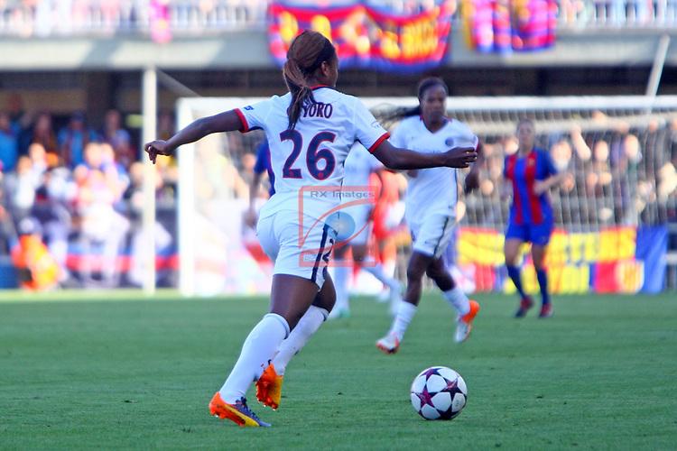 UEFA Women's Champions League 2016/2017.<br /> Semifinals.<br /> FC Barcelona vs Paris Saint Germain: 1-3.<br /> Grace Geyoro.