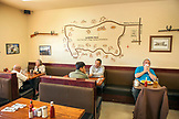 USA, California, Mammoth, inside the Alabama Hills Cafe in Lone Pine