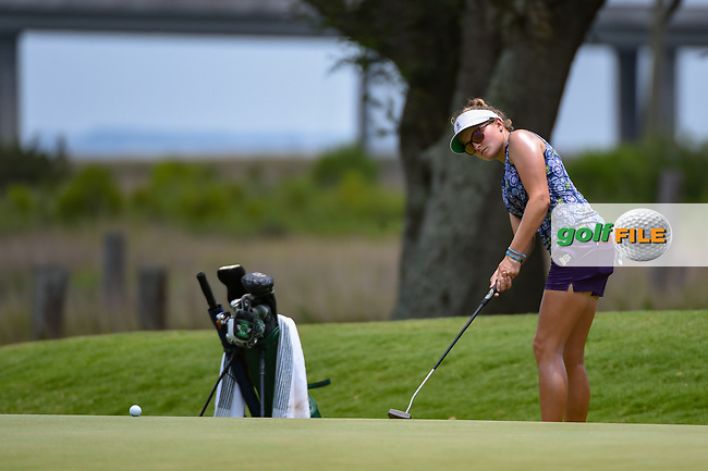 Fatima Fernandez Cano (ESP) watches her putt on 10 during round 2 of the 2019 US Women's Open, Charleston Country Club, Charleston, South Carolina,  USA. 5/31/2019.<br /> Picture: Golffile | Ken Murray<br /> <br /> All photo usage must carry mandatory copyright credit (© Golffile | Ken Murray)