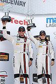 IMSA WeatherTech SportsCar Championship<br /> AMERICA'S TIRE 250<br /> Mazda Raceway Laguna Seca<br /> Monterey, CA USA<br /> Sunday 24 September 2017<br /> 93, Acura, Acura NSX, GTD, Andy Lally, Katherine Legge, podium<br /> World Copyright: Michael L. Levitt<br /> LAT Images