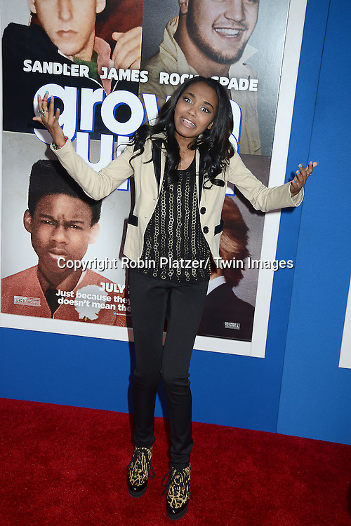 "China Anne McClain attends the Special Screening of ""Grown Ups 2"" on July 10, 2013 at AMC Lincoln Square in New York City. The film stars Adam Sandler, Chris Rock, Kevin James, David Spade, Salma Hayek and Shaquille O' Neal."