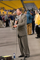 10 October 2007: Fox Sports News Pittsburgh broadcaster Stan Savran..The Navy Midshipmen beat the Pitt Panthers 48-45 in double overtime on October 10, 2007 at Heinz Field, Pittsburgh, Pennsylvania.