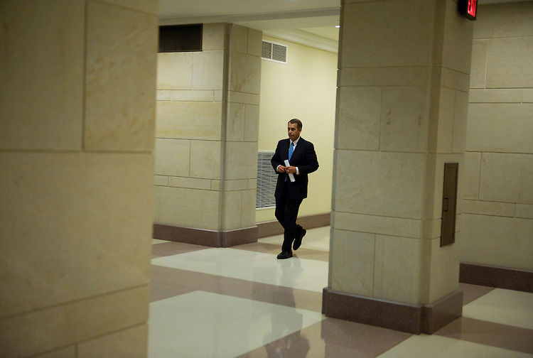 House Minority Leader John Boehner, R-Ohio, makes his way to his weekly news conference, Mar. 4, 2010.