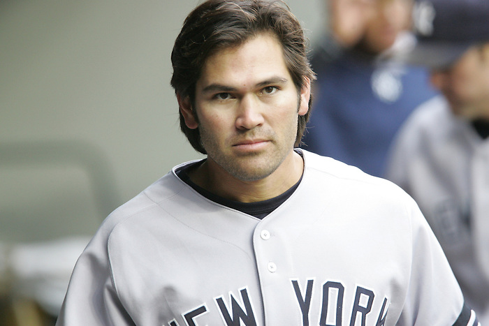 12 May 2007: Johnny Damon in the dugout during the Seattle Mariners vs New York Yankees at Safeco Park in Seattle, Washington.