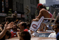 File Photo -  1986 Stanley Cup parade in downtown Montreal, May 26, 1986<br /> <br /> <br />  photo  : Stephane Fournier<br /> <br />  -  Agence Quebec Presse