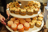 A display of cupcakes at the 2013 Holiday GiftGuide Show held in midtown in New York on Wednesday, June 19, 2013.  (© Frances M. Roberts)