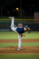 AZL Brewers relief pitcher Austin Rubick (33) follows through on his delivery against the AZL Giants on August 15, 2017 at Scottsdale Stadium in Scottsdale, Arizona. AZL Giants defeated the AZL Brewers 4-3. (Zachary Lucy/Four Seam Images)