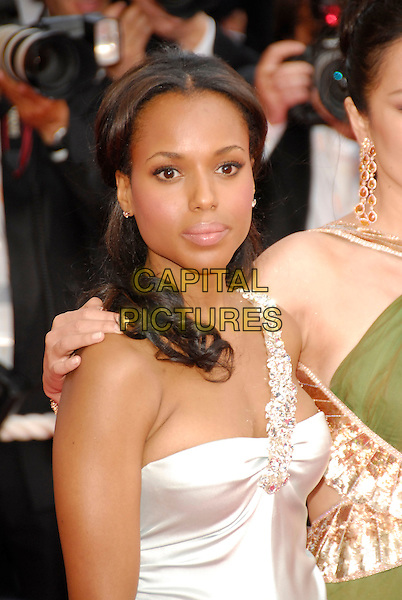 "KERRY WASHINGTON.""My Blueberry Nights"" premiere & the 60th International Cannes Film Festival Opening Night, Cannes, France. .May 16th, 2007.half length white one shoulder jewel encrusted .CAP/KRA .© Persun/Capital Pictures"