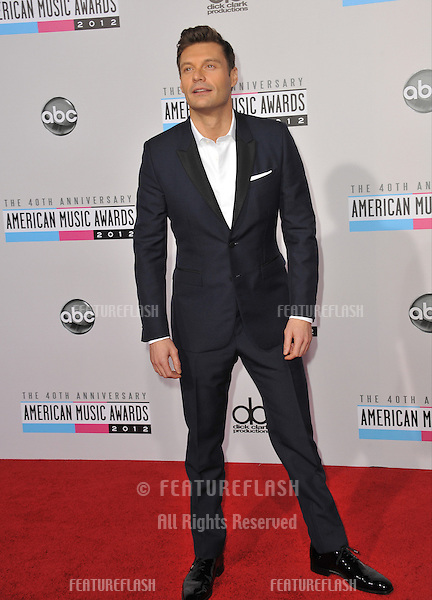 Ryan Seacrest at the 40th Anniversary American Music Awards at the Nokia Theatre LA Live..November 18, 2012  Los Angeles, CA.Picture: Paul Smith / Featureflash