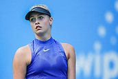 June 18th 2017, Edgbaston Priory Club; Tennis Tournament; Aegon Classic Birmingham; Sunday Qualifiers; Fanny Stollar dejected losing to Jana Fett