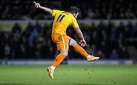 Sam Wood of Wycombe Wanderers fires a shot at goal during the Sky Bet League 2 rearranged match between Bristol Rovers and Wycombe Wanderers at the Memorial Stadium, Bristol, England on 1 December 2015. Photo by Andy Rowland.
