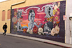 A mural in Hollywood depicts Dolores Del Rio, an early screen star of Hispanic origin