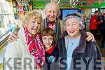 Eamonn Kissane with his grandparents Eileen and Edward McCarthy and Geraldine Kissane at the Grandparents Day in Listellick NS on Friday.