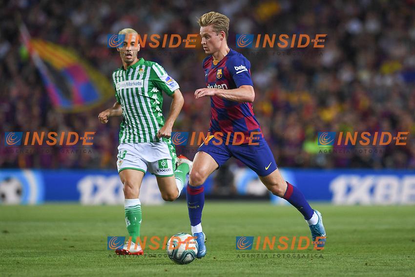 FOOTBALL: FC Barcelone vs Real Betis - La Liga-25/08/2019<br /> De Jong (FCB), Canales (Betis)