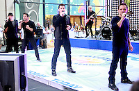 August 17, 2012  Justin Jeffre, Jeff Timmons, Nick Lachey, Drew Lachey 98 Degrees perform on the NBC's Today Show Toyota Concert Serie at Rockefeller Center in New York City.Credit:© RW/MediaPunch Inc. /NortePhoto.com<br />