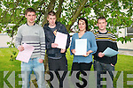 Listowel Community College students who had completed the first exam of this Year's Leaving Cert. Niall Lombard, Shane Brennan, Poppy Dupraz & Nathan Shine.
