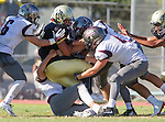 Palos Verdes, CA 09/16/16 - Marcello Merola (Peninsula #8) in action during the Torrance - Palos Verdes Peninsula CIF Varsity football game.