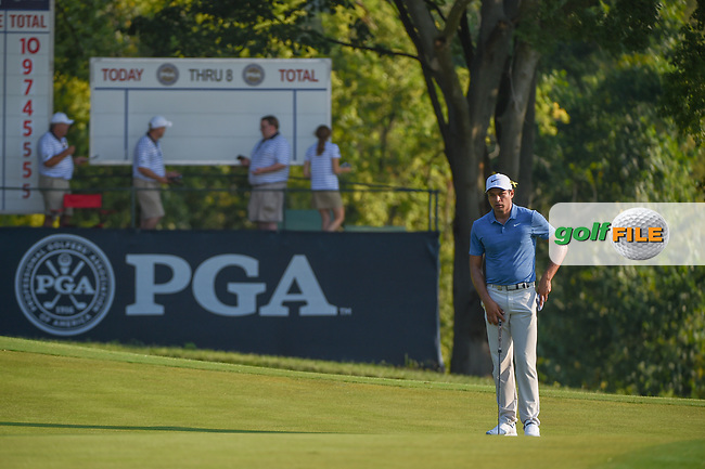 Julian Suri (USA) looks over his putt on 9 during 2nd round of the 100th PGA Championship at Bellerive Country Club, St. Louis, Missouri. 8/11/2018.<br /> Picture: Golffile | Ken Murray<br /> <br /> All photo usage must carry mandatory copyright credit (© Golffile | Ken Murray)