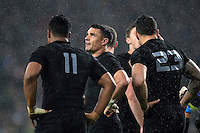 Dan Carter of New Zealand looks on during a break in play. Rugby World Cup Semi Final between South Africa and New Zealand on October 24, 2015 at Twickenham Stadium in London, England. Photo by: Patrick Khachfe / Onside Images