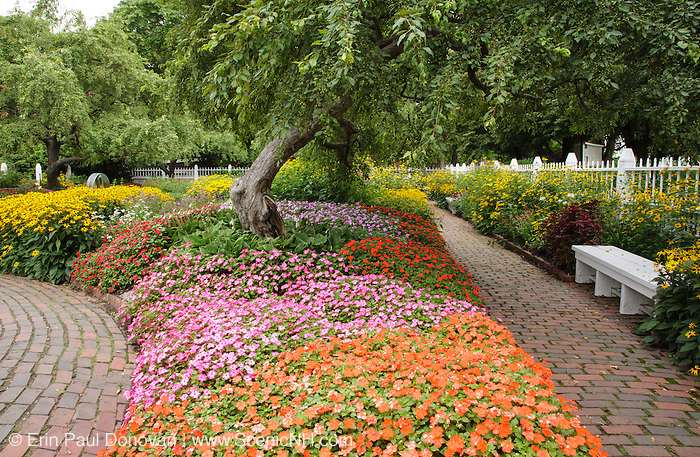 Prescott Park in Portsmouth, New Hampshire USA during the summer months.