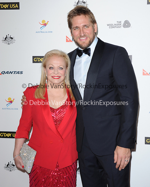 Jacki Weaver and Curtis Stone attends The G'Day USA Black Tie Gala held at  JW Marriot at LA Live in Los Angeles, California on January 11,2014                                                                               © 2014 Hollywood Press Agency