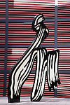 Roy Lichtenstein Brushstroke Sculpture at Reina Sofia Modern Art Museum, Madrid; Spain