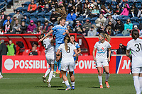 Bridgeview, IL - Saturday April 22, 2017: Sofia Huerta during a regular season National Women's Soccer League (NWSL) match between the Chicago Red Stars and FC Kansas City at Toyota Park.