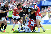Maro Itoje of Saracens takes on the Gloucester Rugby defence. Gallagher Premiership Semi Final, between Saracens and Gloucester Rugby on May 25, 2019 at Allianz Park in London, England. Photo by: Patrick Khachfe / JMP