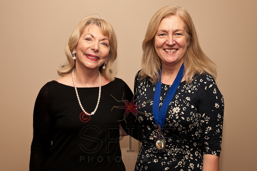 Keynote speaker Judy Naake, with Dianne Allen, President of Nottingham City Business Club