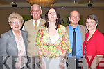 Attending the farewell party for Monsignor Dan O'Riordan at the Brandon Hotel on Tuesday l-r: Betty, Jerry and Susan Keating and Alasdair and Anne McKenzie, all from Ballyvalley..   Copyright Kerry's Eye 2008