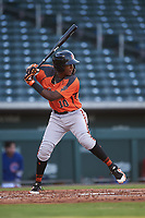 AZL Giants Orange Marco Luciano (10) at bat during an Arizona League game against the AZL Cubs 1 on July 10, 2019 at Sloan Park in Mesa, Arizona. The AZL Giants Orange defeated the AZL Cubs 1 13-8. (Zachary Lucy/Four Seam Images)