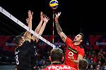 14.09.2019, Paleis 12, BrŸssel / Bruessel<br />Volleyball, Europameisterschaft, Deutschland (GER) vs. Belgien (BEL)<br /><br />Angriff Georg Grozer (#9 GER)<br /><br />  Foto © nordphoto / Kurth