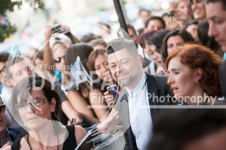 ´Rise of the Planet of the Apes´ Madrid Premiere, with director Matt Reeves and actors Keri Russell and Andy Serkis at  Capitol Cinema, Madrid, Spain. July 16, 2014.   (C) Ivan L. Naughty / DyD Fotografos