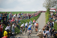early breakaway group up the steep Gulperberg<br /> <br /> Amstel Gold Race 2014