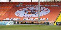 Blackpool Are Back! banner<br /> <br /> Photographer Kevin Barnes/CameraSport<br /> <br /> The EFL Sky Bet League One - Blackpool v Peterborough United - Saturday 13th April 2019 - Bloomfield Road - Blackpool<br /> <br /> World Copyright &copy; 2019 CameraSport. All rights reserved. 43 Linden Ave. Countesthorpe. Leicester. England. LE8 5PG - Tel: +44 (0) 116 277 4147 - admin@camerasport.com - www.camerasport.com